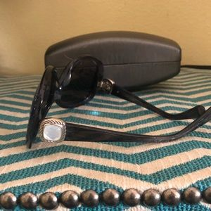 DAVID yurman mother of pearl tortoise sunglasses
